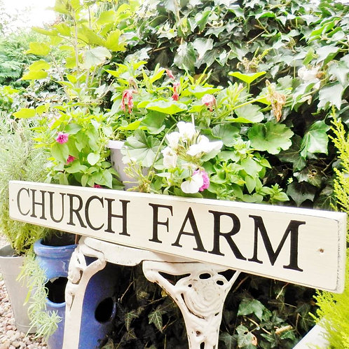 """Personalised Wooden House Sign 24 x 4"""""""