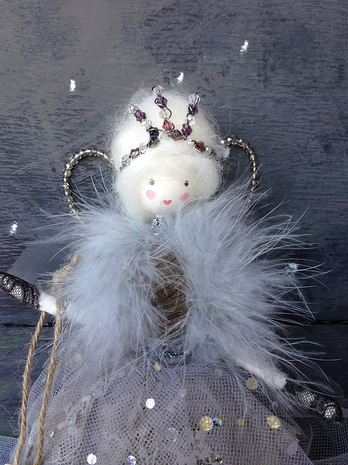 Vintage style handcrafted Christmas fairy
