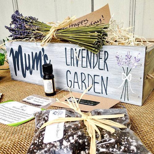Personalised Lavender Garden Window Box