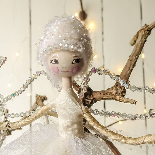 Personalised Christmas Ice Angel Fairy