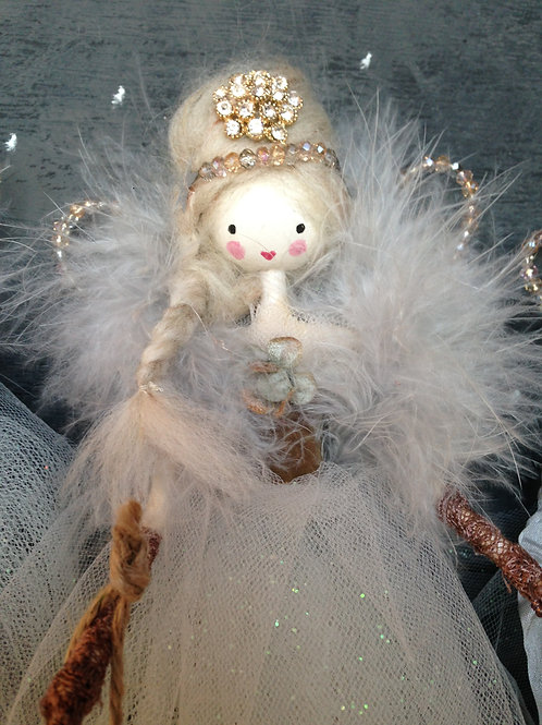 Vintage style hand made fairy