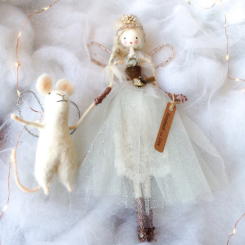 Vintage style handcrafted fairy