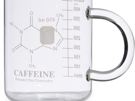 EISCO Premium Hand Crafted Beaker Mug, Thick Borosilicate Glass, Large Size, Pint Glass or Coffee Mu