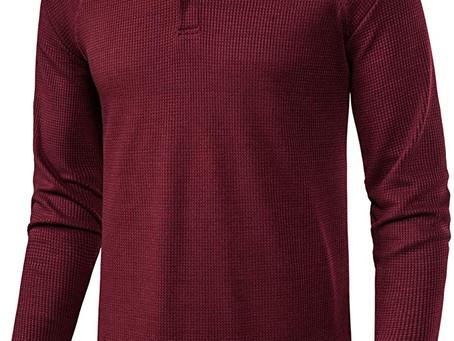 Manwan walk Men's Pullover Active Waffle Hoodies Sweatshirts