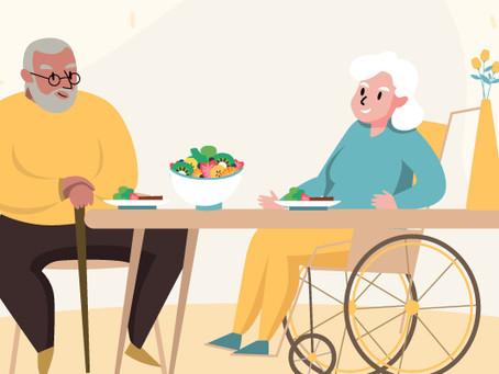 10 passos da alimentação saudável para idosos durante a pandemia