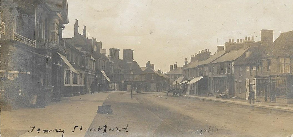 a very old picture of bletchley back in the days. you can actually see the fenny kitchen's old buinding in it with it's massive triple chimneys. It a nice historic piece which the fenny kitchen will always hold