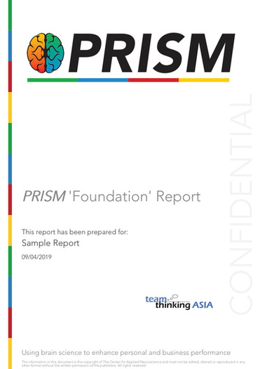 Sample PRISM Foundation Report cover pag