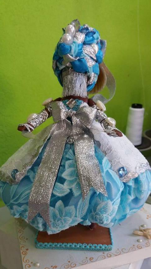 ORIXA IEMANJÁ azul e prata florido