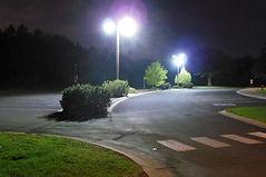 city hall parking lot led retrofit after