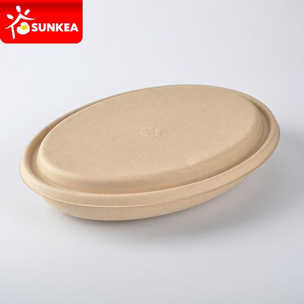 bamboo fiber oval takeaway box