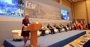 ადგილობრივი ეკონომიკური განვითარების მე-10 საერთაშორისო ფორუმის (LED) გახსნა //წყარო: pia.ge//