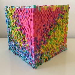 "Art Piece ""Pixel Cube"""