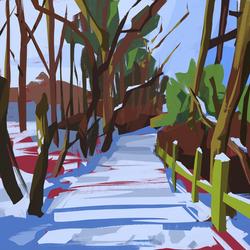 snowy-gateshead-path