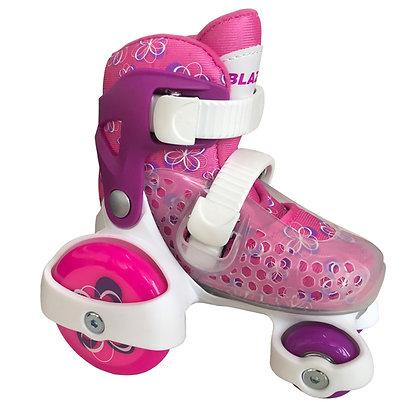 Blazer Kids Kit de patines Entrenador Con Protecciones Rosa