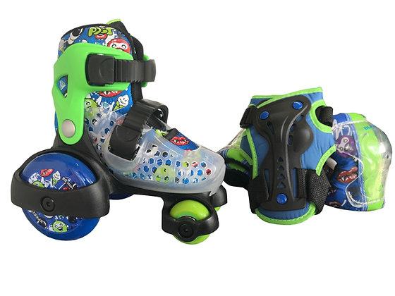 Blazer Kids Kit de patines Entrenador con Protecciones Azul