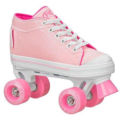 Patines Roller Clasico 4 Ruedas Zinger Pink Roller Derby