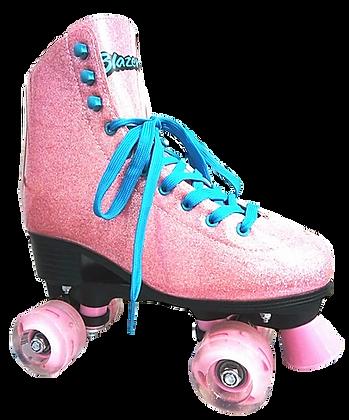 Patines Roller Clasico Blazer Rosa Glitter BZ-0126G
