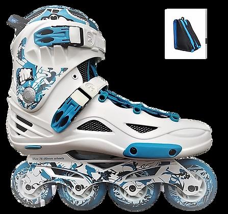Patines Freeskate RX4 Azul-Blanco con mochila