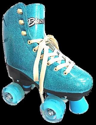 Patines Roller Clasico Blazer Azul Glitter BZ-0126G