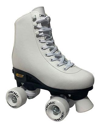 Patines Roller Clasico 4 Ruedas Goo Chicago Ajustable Blanco