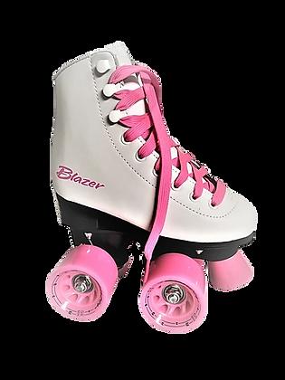 Patines Roller Clasico 4 Ruedas Blazer Blanco/Rosa CT-006 B