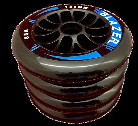 4 ruedas de 125 mm y 88A de dureza: 3 colores