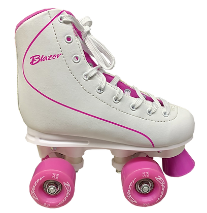 Patines Roller Clasico 4 Ruedas Blazer Blanco. UT-014-17A