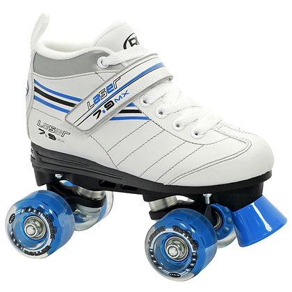 Patines Roller Clasico 4 Ruedas Laser 7.9 Blanco Roller Derby