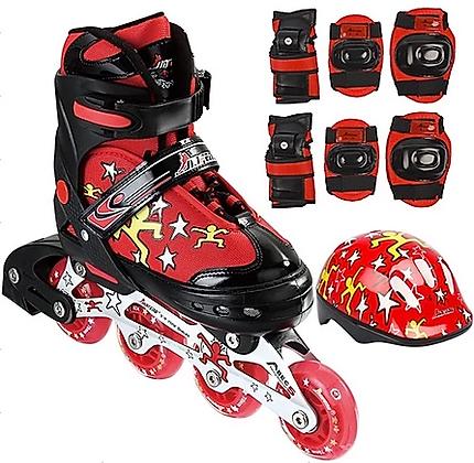 Kit patines niños con casco, protecciones y mochila GF 139A