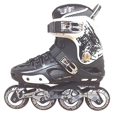 Patines Freeskate JF S500 Negro con Blanco