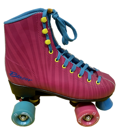 Patines Roller Clasico Blazer Rosa-Cebra. UT-006-17A
