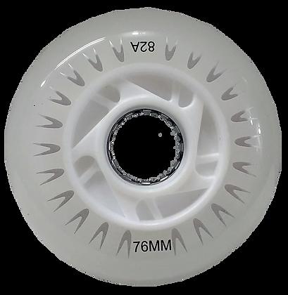 4 Ruedas RX LED 76 mm/82A, 3 colores: Blanca, Azul o Rosa