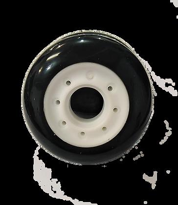 8 ruedas de 70 mm y 85A de dureza: Negra y Blanca