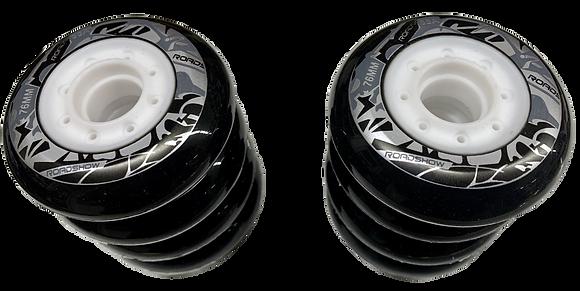 Set de 8 ruedas de 76 mm y 85A de resistencia