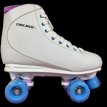 Patines Roller Clasico 4 Ruedas Chicago Blanco. QS-31B