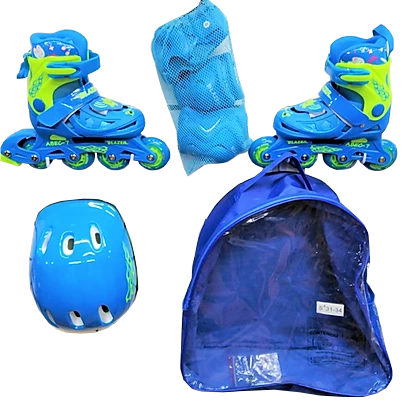Kit Niños Mochila Blazer Azul BZ-168S