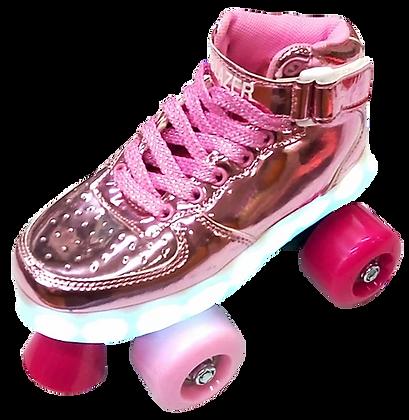 Patines Blazer Roller Rosa C/Luz en plataforma BZ-17QL2