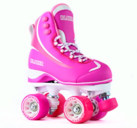 Patines Roller Clasico 4 Ruedas Blazer Sport Rosa