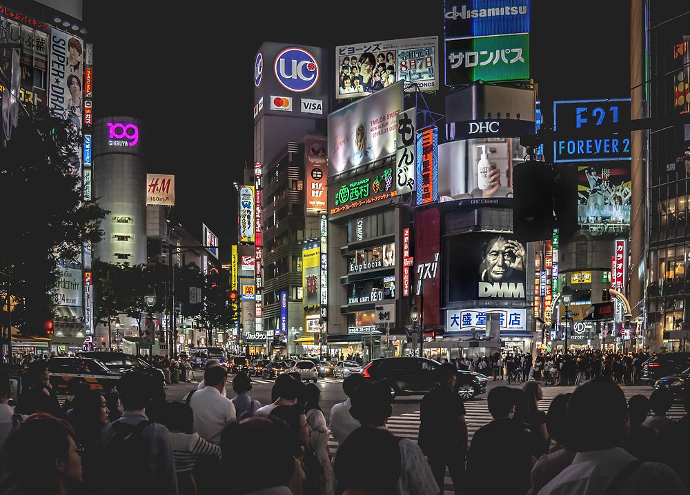 "Lighthouse英会話教室 | The iconic Shibuya Crossing - simply known as ""The Scramble""."