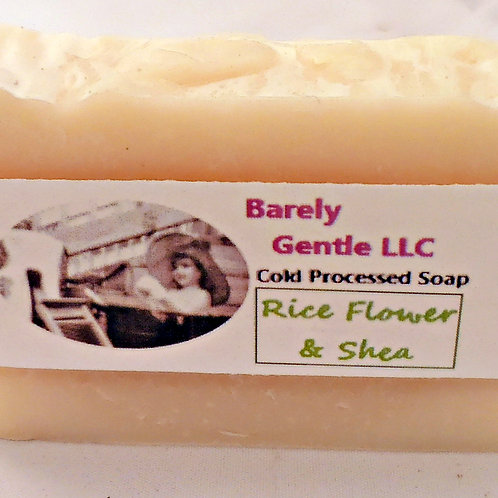 Rice Flower & Shea Handmade Cold Processed Soap