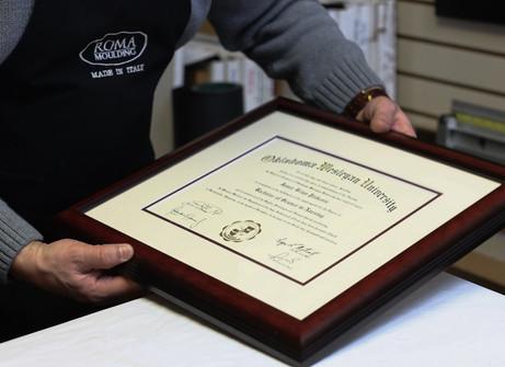 Diplomas Framing