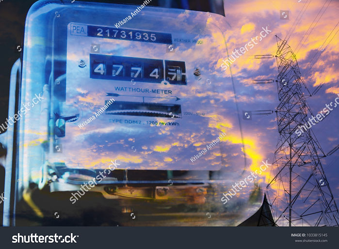 stock-photo-electric-power-meter-measuri