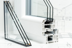 A cross section of window Design of pvc