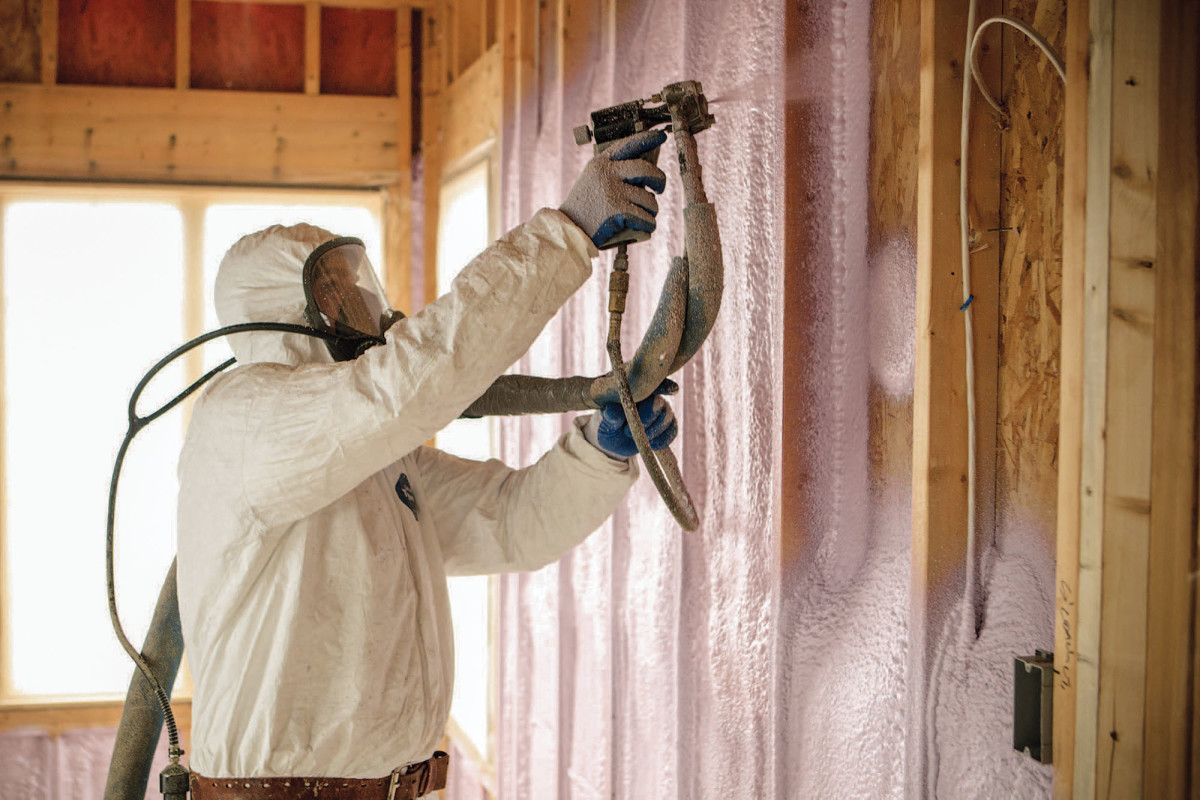 Polyurethane Spray Foam Insulation (SPF)_Wall Insulation