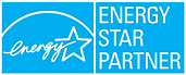 Energy Star Partner Badge, Energy efficient home, solar panels on roof of house, solar panel system