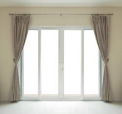 window door close on white background.