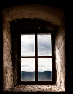 Old Window Set in an Ancient Stone Build