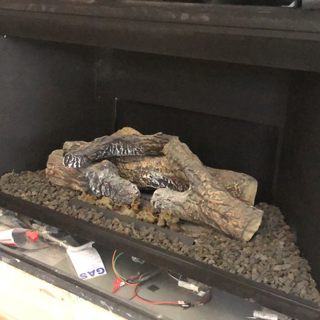 Fireplace for tile installation