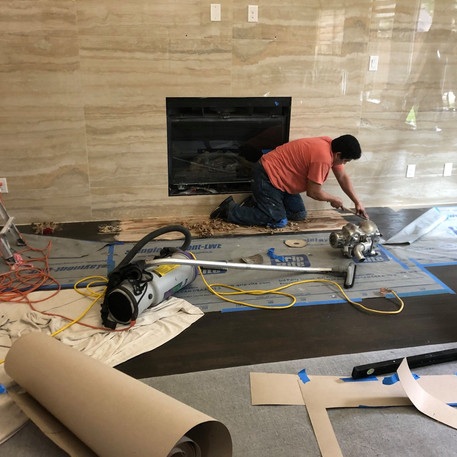 Curved tile cutting