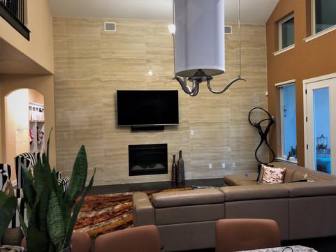 Room after tile installation